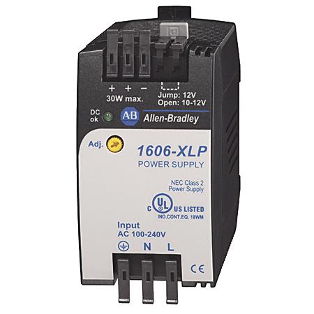 1606-XLP30B: Compact Power Supply, 10-12V DC, 30 W, 120/240V AC / 85-375V DC Input Voltage