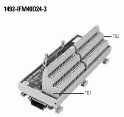 40-Point Digital IFM, 24V AC/DC LED Indicators, 3-Wire Sensor Type Inputs, , , Digital Interface Module