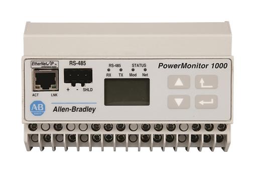 Powermonitor 1000, Energy Monitor EM3, 120/240V AC Power Supply, Serial RS-485 Communications (DF1 Full/Half Duplex, Modbus RTU) and Ethernet Communications (Ethernet/IP and Modbus TCP)