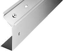 DIN Mounting Rail, Zinc/Steel, 35mm x 7.5mm x 71mm Angled DIN Rail, 30 degrees, 1 Meter (Pkg. Qty. 2)