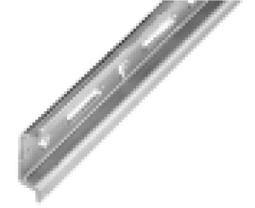DIN Mounting Rail, Zinc Plated, Chromated Steel, 15mm x 5.5mm Mini DIN Rail, 1 Meter (Pkg. Qty. 5)