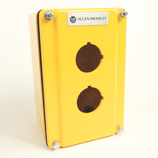 800T and 800H Accessories, Push Button Enclosure,Surface,2 Holes,Type 4/13,Yellow Painted, Die Cast