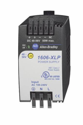 1606-XLP50F: Compact Power Supply, 48-56V DC, 50 W, 120/240V AC / 85-375V DC Input Voltage