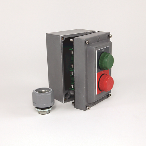 800R Pushbutton Station, Standard, 2 Push Buttons or 2 Push Buttons with 1 Pilot Light,Bulletin 800H Units, NEMA Type 4/4X/13 Bootless, Stainless Steel, START - STOP, No Pilot Lights