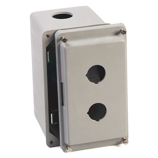 800T and 800H Accessories, Push Button Enclosure, Fiberglass, 2 Holes, Type 4/4X/12/13