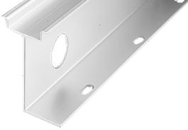 DIN Mounting Rail, Aluminum, 35mm x 7.5mm x 57.4mm Raised DIN Rail, 1 Meter (Pkg. Qty. 2)