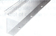 DIN Mounting Rail, High Rise Mounting A-B Rail (22.4mm x 7.6mm x 57.4mm high), 1 Meter (Pkg. Qty. 2)