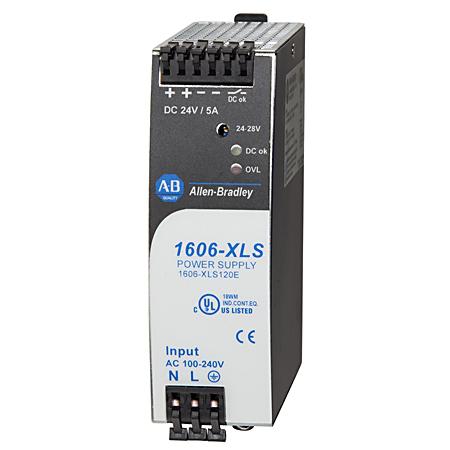 1606-XLS120E: Performance Power Supply, 24-48V DC, 120 W, 120/240V AC / 110-300V DC Input Voltage