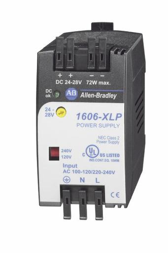 1606-XLP72E: Compact Power Supply, 24-28V DC, 72 W, 100-120 / 220-240V AC / 290V DC Input Voltage