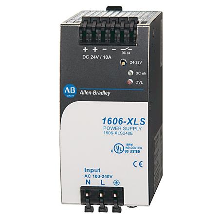 1606-XLS240E: Performance Power Supply, 24-28V DC, 240 W, 120/240V AC / 100-150V DC Input Voltage