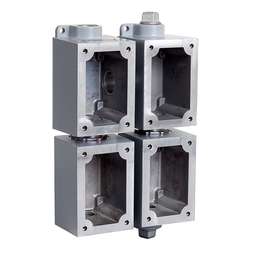 800H 7 & 9 Accessories, 4-Gang in Assembled Base, 1 in Feed Through