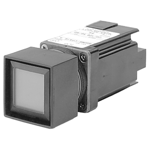 800MB Momentary Contact Push Button Units, Illuminated, Black Bezel, Full Voltage, Flush Head, Incandescent, 24V AC/DC, Amber, 1N.O. - 1 N.C., Stab Terminals