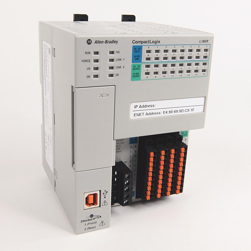 Allen-Bradley 1769-L18ER-BB1B Compactlogix 0.5 mB DI/O Controller