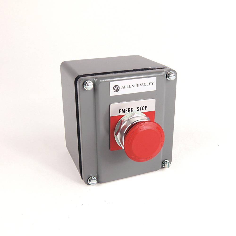 Allen Bradley 800T-1TA 30.5 mm NEMA 4/13 1NO 1NC Momentary 1-Button Push Button Assembled Station