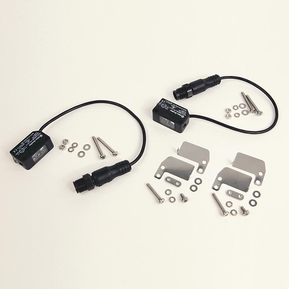 Allen Bradley R7KJS-T9MPA1-F4 4-Pin DC Micro PNP Visible Red TB Receiver Photoelectric Sensor Kit