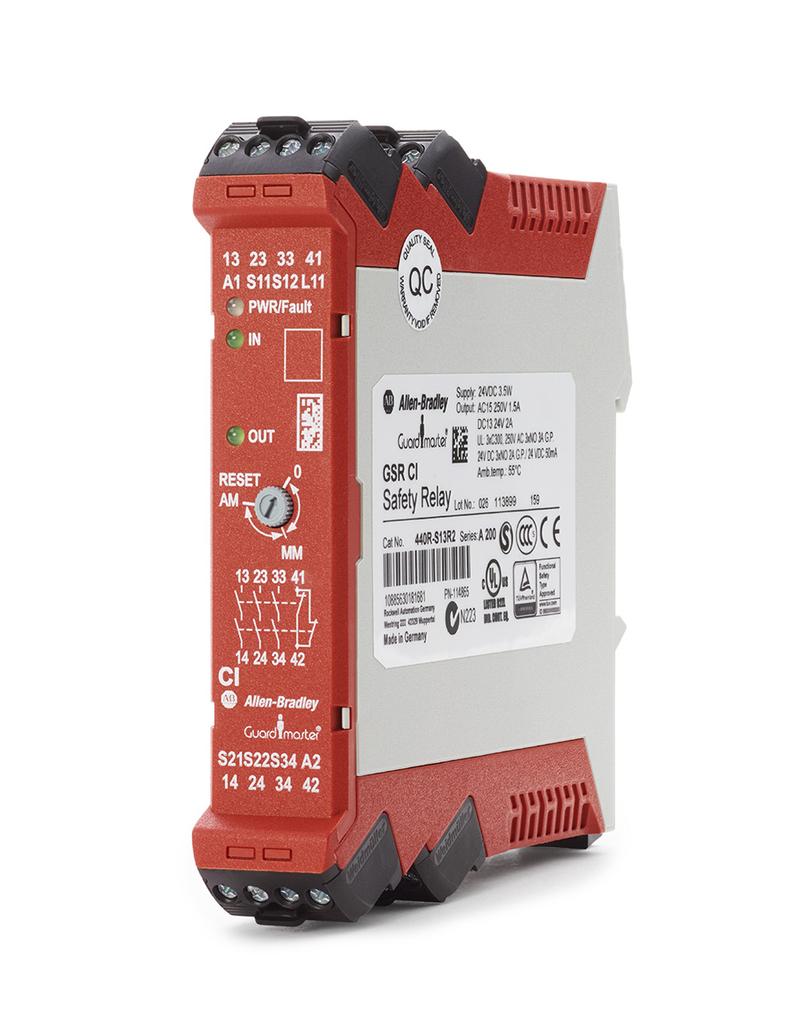 Allen-Bradley 440R-S13R2 Guardmaster Single Input Safety Relay