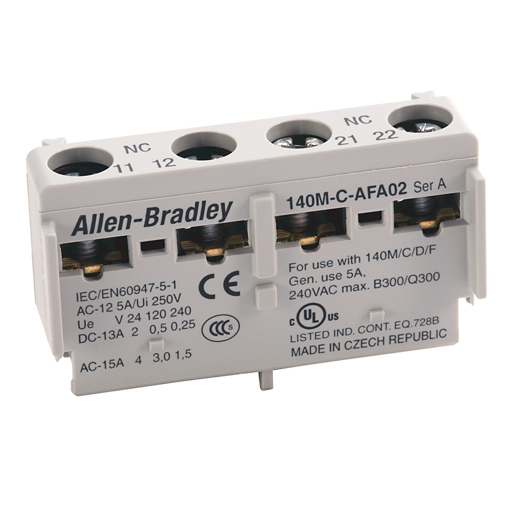 Allen-Bradley 140M-C-AFA11 Front Mounted 1 NO 1 NC Auxiliary Contact Block