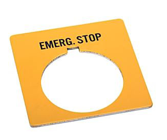 Allen-Bradley 800T-X504Y 30 mm Push Button EMERGENCY STOP Yellow Legend Plate