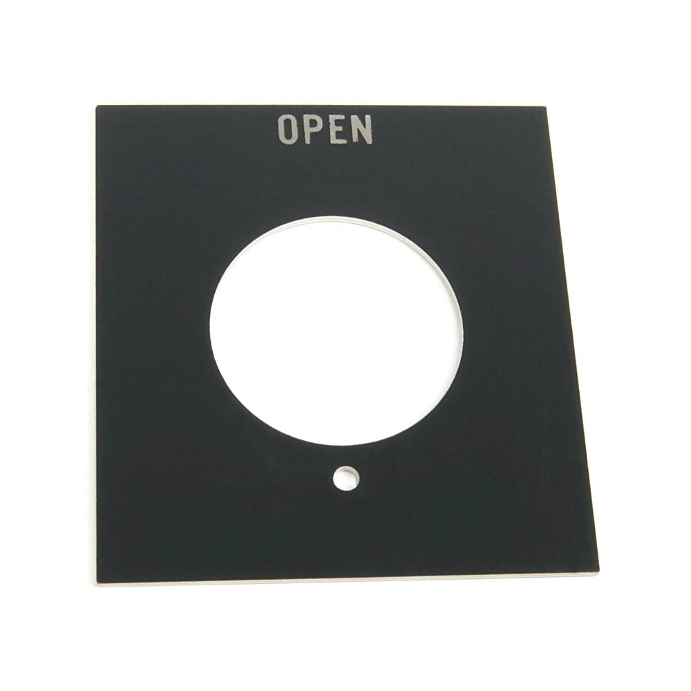 Allen Bradley 800H-Y31J OPEN Jumbo Push Button Legend Plate