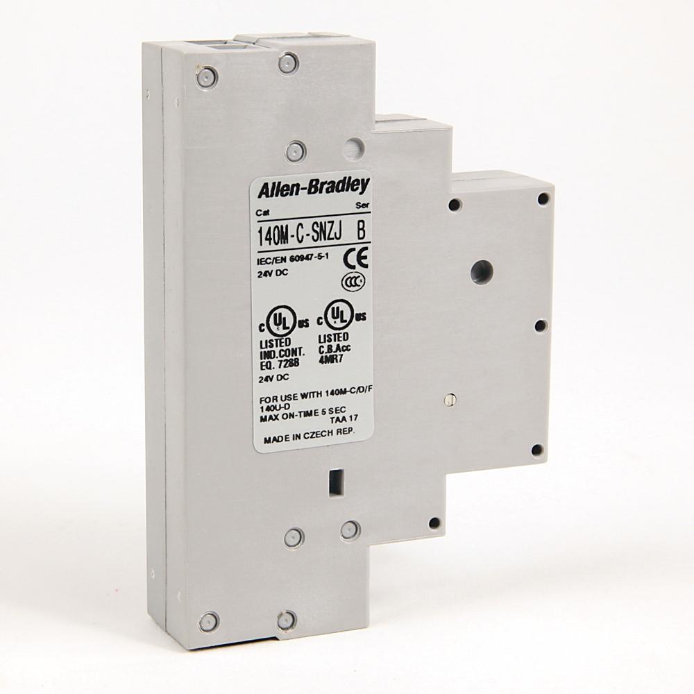 Allen Bradley 140M-C-SNZJ 24 VDC Motor Protection Circuit Breaker Shunt Release Module