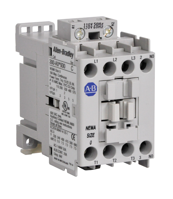 Allen-Bradley 300-AOD930 NEMA Size 0 300 AC Contactor