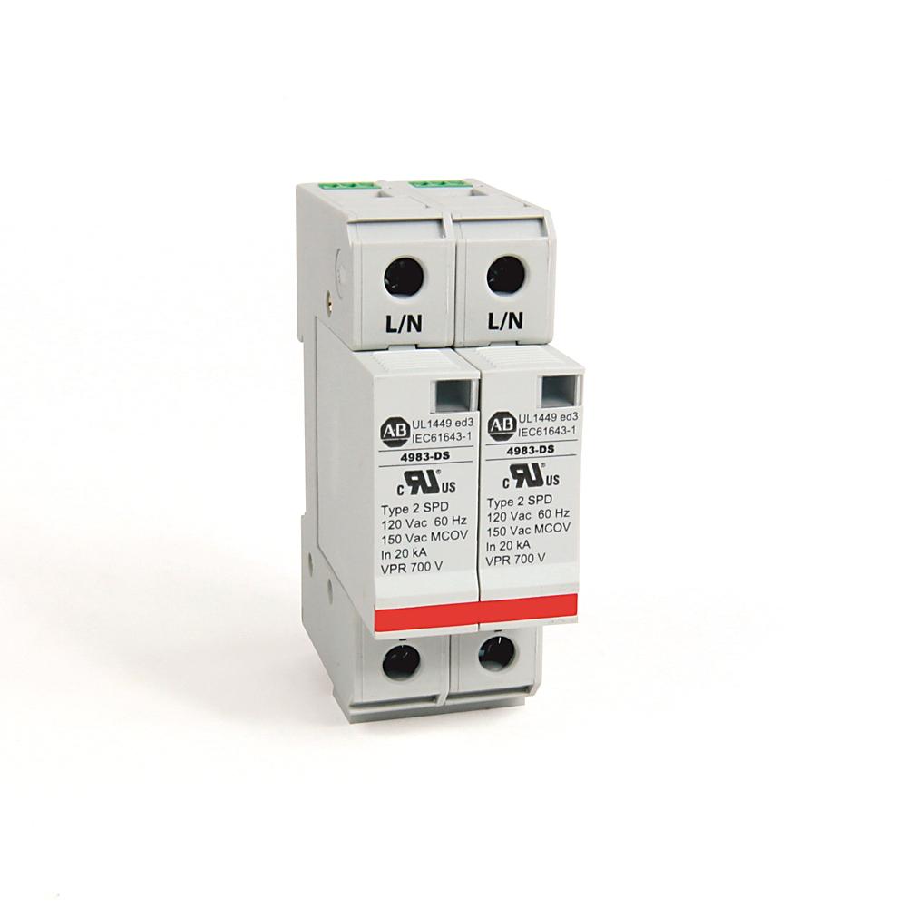 Allen-Bradley 4983-DS120-402 UL 1449 2-Pole Configuration Surge and Filter Protection DIN Rail Mount
