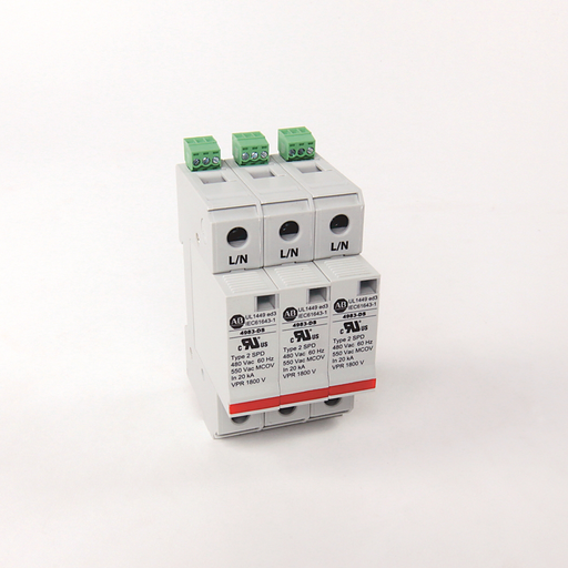 4983 Surge and Filter Protection, Din Rail Mount, UL 1449, 480V AC, 40kA, 3 Pole Configuration