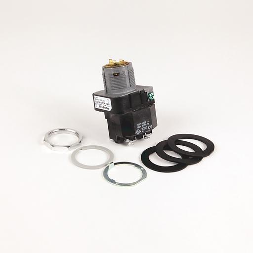 30.5mm Type 4/13 Sel. Switch-Illum., 3 Pos.Transformer, 120V AC 50/60 Hz, Green, Knob Lever Maint.