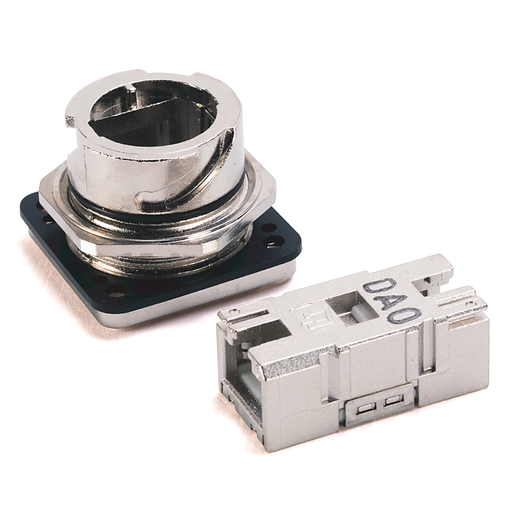 Metal Variant 1 Outlet with RJ45 IDC Insert