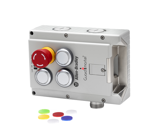 Lock Module, 442G Access Box, Power to Lock, Unique Code, M23 Connector, Right-hand Guard, E-stop, 3 Push Buttons