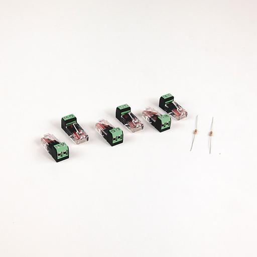 PowerFlex 4-Class DSI RJ45 Terminal Blocks - RJ45 two position terminal block (6 pieces) with two 120 Ohm terminating resistors (loose)