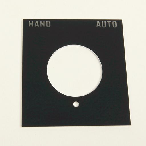 800H 7 & 9 Accessories, 800H 7 & 9 Legend Plates, Vertical, No Color Code, Standard, HAND-AUTO