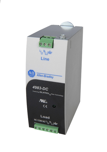 4983 Surge and Filter Protection, Din Rail Mount, Combo UL 1449/UL 1283, 230-240V AC, 5A, No Pole Configuration