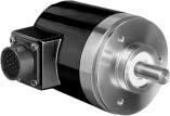 Optical Absolute Encoder, NEMA Type 4, Single-Turn, Size 25, 8-12 bit with Binary Output, 512 Counts Per Revolution