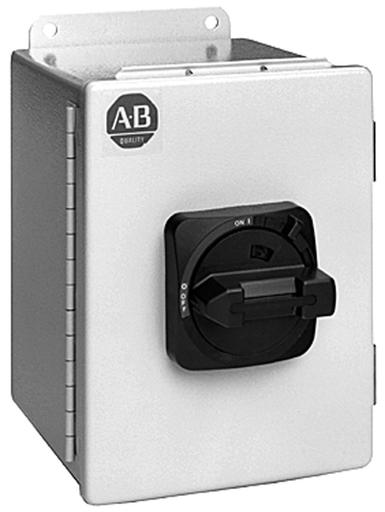 IEC Load Switch, NEMA Type 3/4/12 - IP66 Painted Steel - Base / DIN Rail, Handle Color:Grey / Black, 25A, 3 Poles