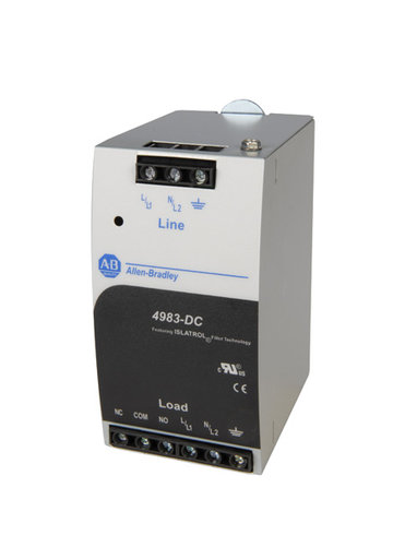 4983 Surge and Filter Protection, Din Rail Mount, Combo UL 1449/UL 1283, 120V, 20A, No Pole Configuration