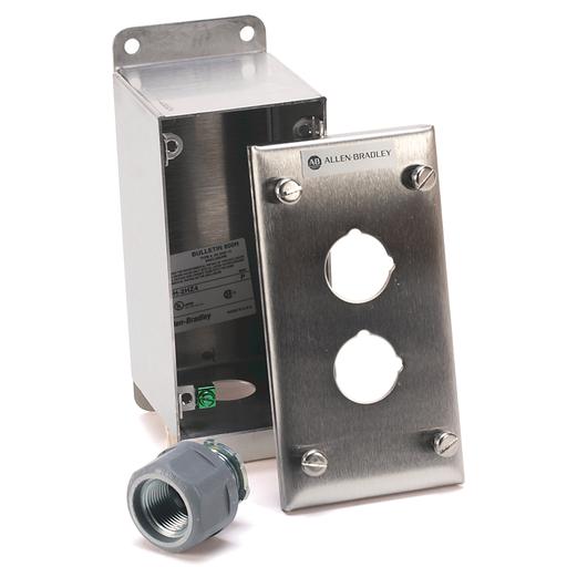 30mm Push Button Enclosure 800H PB - 800H-2Hz4