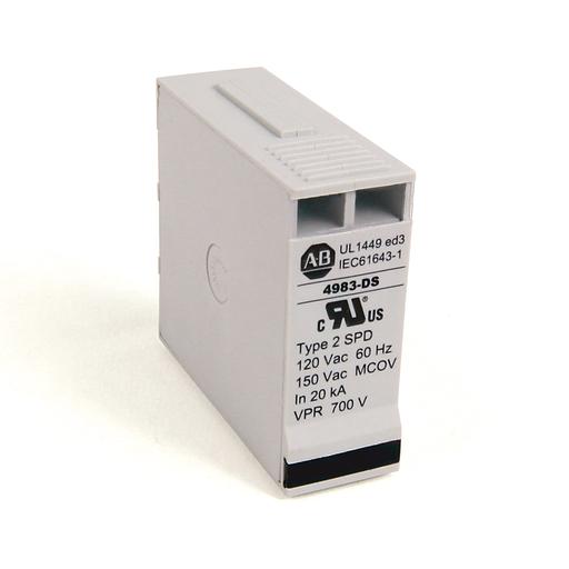 4983 Surge and Filter Protection, Din Rail Mount, UL 1449, 120V, 80kA, 2 Pole Configuration
