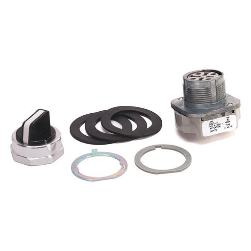 30.5mm Type 4/13 3 Pos. Cyl. Lock Sel. Switch, Maint., Lock Right & Left, Std. Key, D018 Key