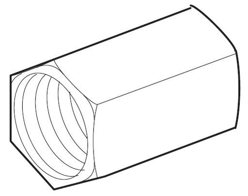 Conduit Adapter, Stainless Steel, 18mm Diameter