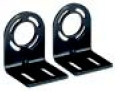 Steel L-shaped end cap mounting bracket (4 per package)