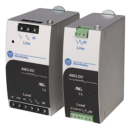 4983 Surge and Filter Protection, Din Rail Mount, Combo UL 1449/UL 1283, 120V, 5A, No Pole Configuration