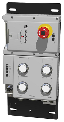 Lock Module, 442G Access Box, Power to Release, Unique Code, EtherNet/IP (2 x M12, D-coded), Left-hand Guard, E-stop, Four Push Buttons, and Connector for Enabling Switch