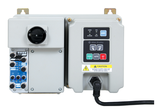 280 Full Voltage Starter, EtherNet/IP, 24V DC, 25 A Rated Device, Current Range 3.2...16 A, Conduit Entrance with Motor Cable Supplied, Hand-Off-Auto Selector Keypad
