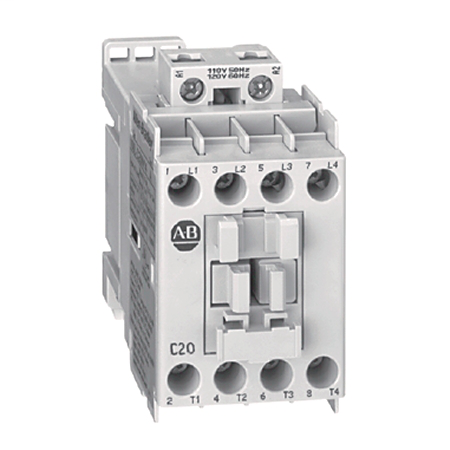 100L IEC Electrically Held Lighting Contactor, Open,, 4 Pole, 24V 60Hz