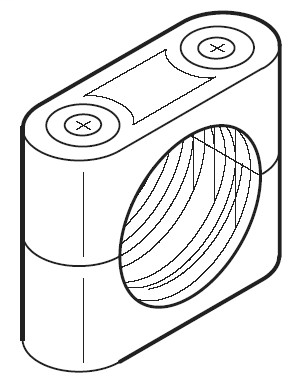 Clamp Style Mounting Bracket, Plastic, 18mm Diameter, For use with 871A-BXN8 and 871A-BXS8 Spring Return Brackets