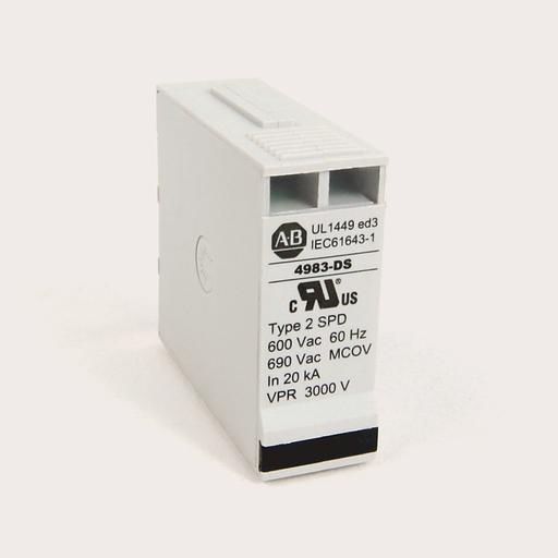 4983 Surge and Filter Protection, Din Rail Mount, UL 1449, 600V AC, 80kA, 4 Pole Configuration