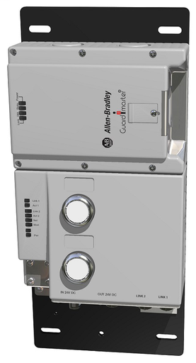 Lock Module, 442G Access Box, Power to Release, Unique Code, EtherNet/IP (2 x M12, D-coded), Right-hand Guard, 2 Push Buttons