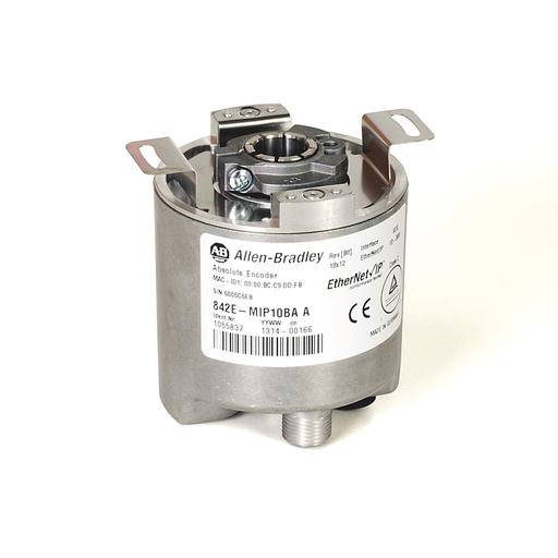 842E EtherNet/IP Multi-Turn Encoders, Single-turn (1 turn), Hollow shaft 12 mm, M12 connector, 262,144 (18 bit) steps per revolution
