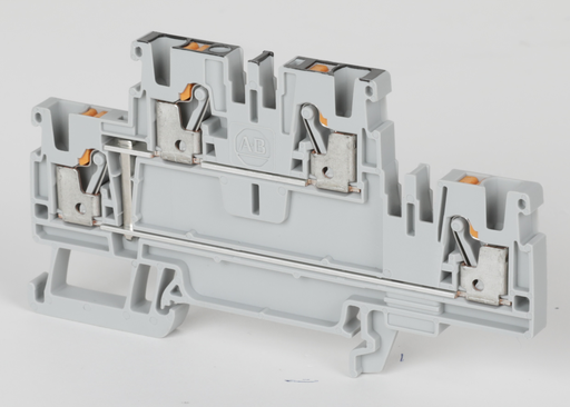 1492-P Push-in Terminal Blocks, 2.5 mm² (AWG 28 - AWG 12), 20 A, Feed-Through, Multi-Level, 2 Points On One Side, 2 Points On Other Side